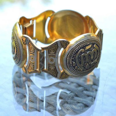 Wicksteads-Jewels-and-Treasures-Vintage-Wide-Damascene-Bracelet-(1)