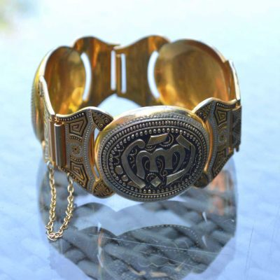 Wicksteads-Jewels-and-Treasures-Vintage-Wide-Damascene-Bracelet-(2)