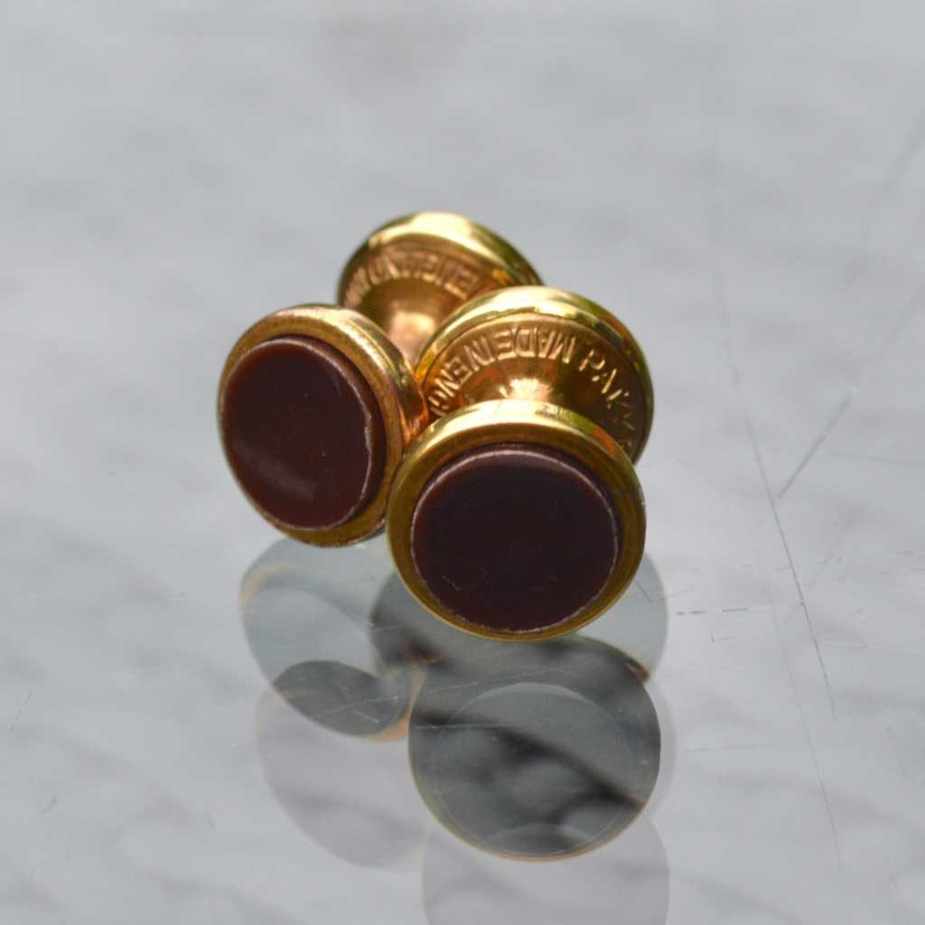 Wickstead's-Mr-Wickstead-Vintage-Cufflinks-Double-Ended-Gold-Retractable-Chain-Burgundy(1)