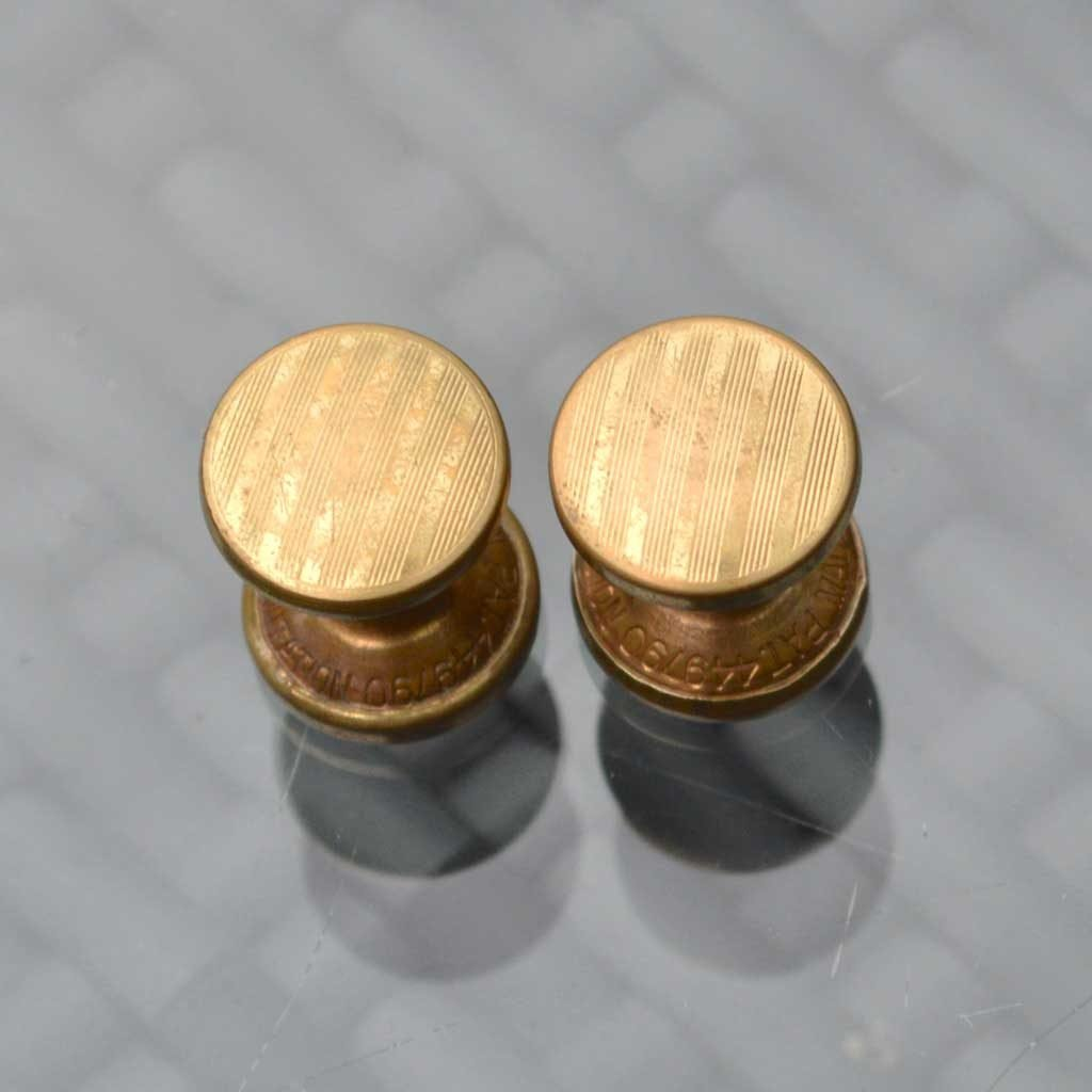 Wickstead's-Mr-Wickstead-Vintage-Cufflinks-Double-Ended-Gold-Retractable-Chain-Stripes-(1)