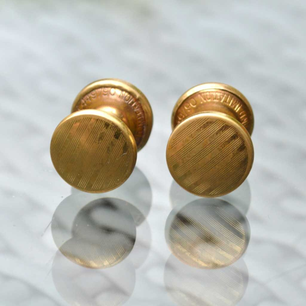 Wickstead's-Mr-Wickstead-Vintage-Cufflinks-Double-Ended-Gold-Retractable-Chain-Stripes-(2)