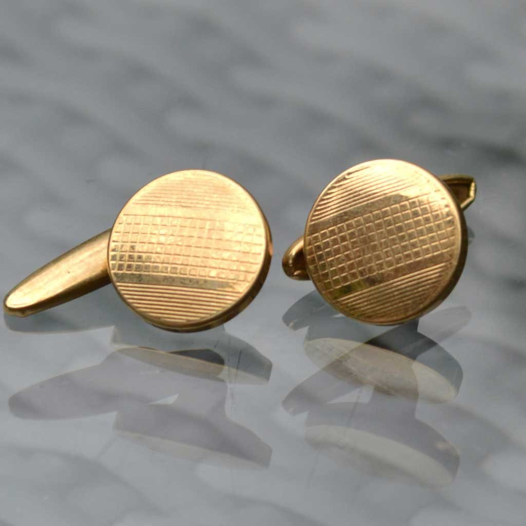 Wickstead's-Mr-Wickstead-Vintage-Cufflinks-Imitation-Gold-Retractable-Chain-Grid-Stripes-(1)