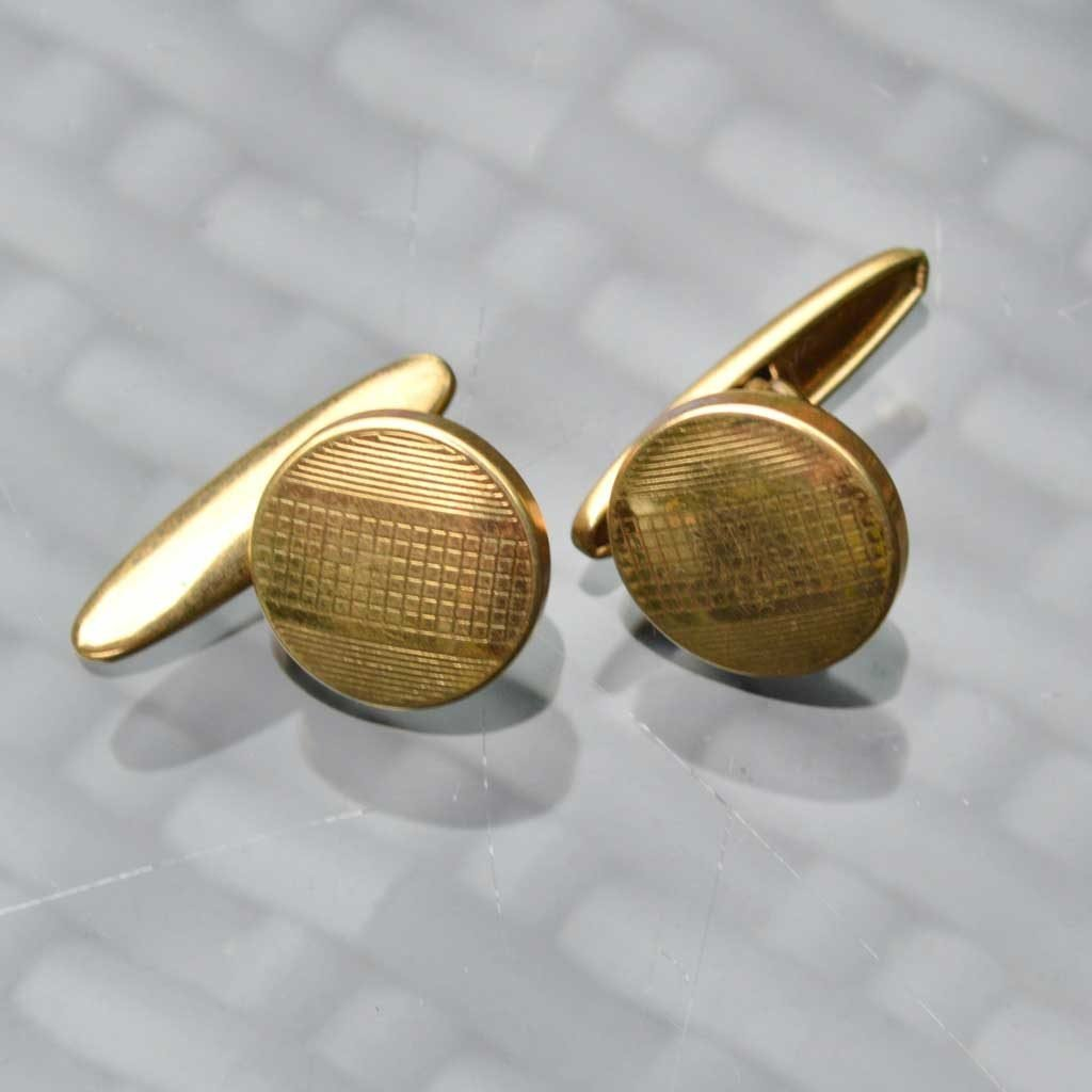 Wickstead's-Mr-Wickstead-Vintage-Cufflinks-Imitation-Gold-Retractable-Chain-Grid-Stripes-(2)