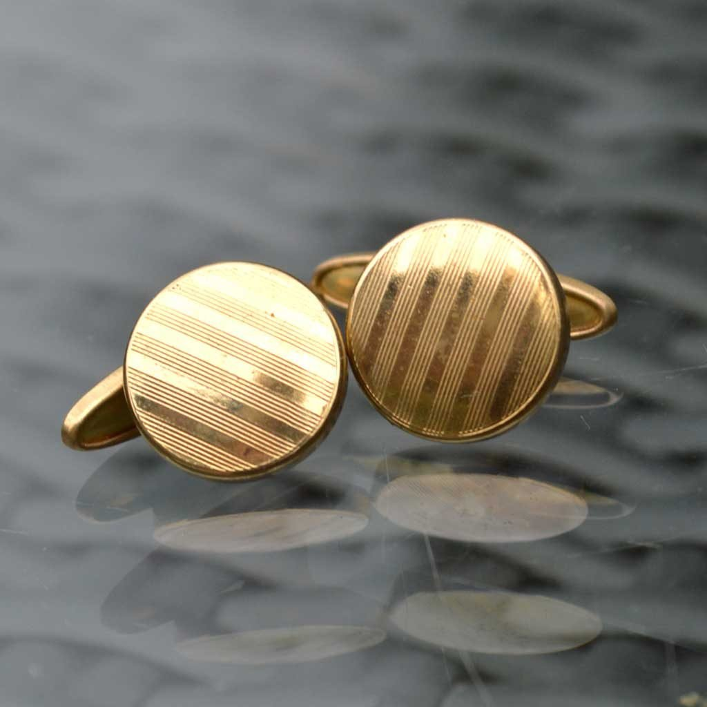 Wickstead's-Mr-Wickstead-Vintage-Cufflinks-Imitation-Gold-Retractable-Chain-Stripes-(1)
