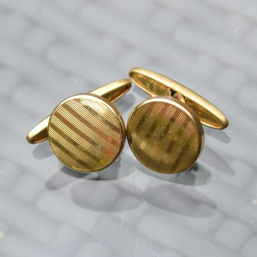 Wickstead's-Mr-Wickstead-Vintage-Cufflinks-Imitation-Gold-Retractable-Chain-Stripes-(2)