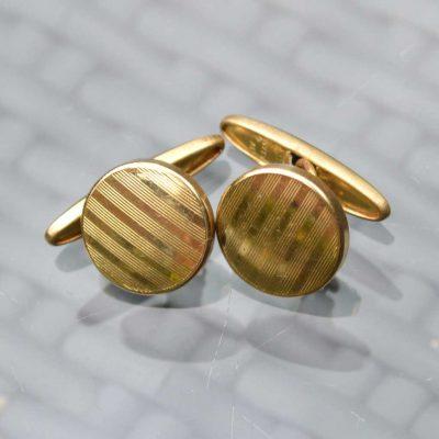 Wickstead's-Mr-Wickstead-Vintage-Cufflinks-Imitation-Gold-Retractable-Chain-Stripes-(2)