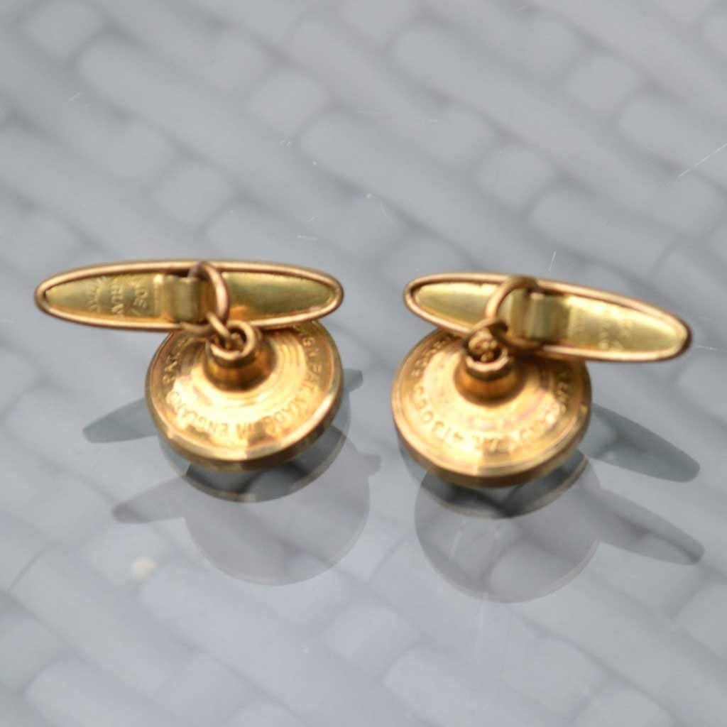 Wickstead's-Mr-Wickstead-Vintage-Cufflinks-Imitation-Gold-Retractable-Chain-Stripes-(3)