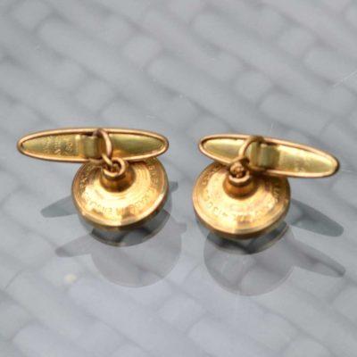 Wickstead's-Mr-Wickstead-Vintage-Cufflinks-Imitation-Gold-Retractable-Chain-Stripes-(3)