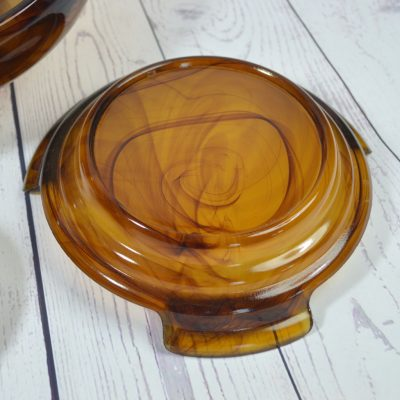 Wicksteads-Home-&-Living-Glassware-Davidson-Amber-Cloud-Glass-3-Piece-Bowl-Set-(6)