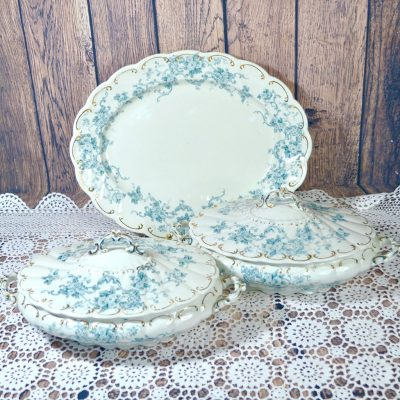 Wicksteads-Home-&-Living-Tableware-Antique-English-Tureens-&-Platter-Set-Blue-White-Floral-Florence-Pattern—(6)