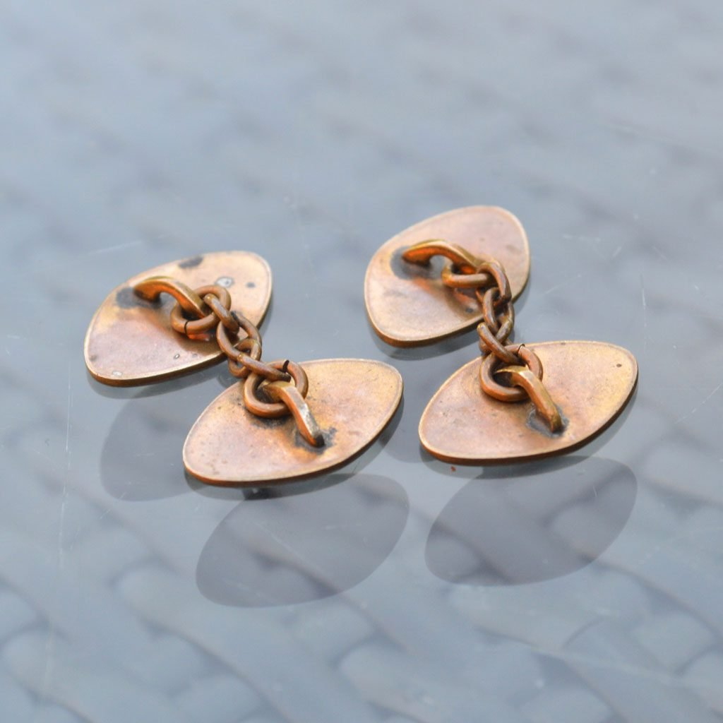 Wickstead's-Mr-Wickstead-Vintage-Cufflinks–Chain-Gold-Tone-Diamoind-Shapes-(4)