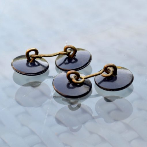 Wickstead's-Mr-Wickstead-Vintage-Cufflinks–Chain-Links-Double-Ended-Black-Buttons–(2)
