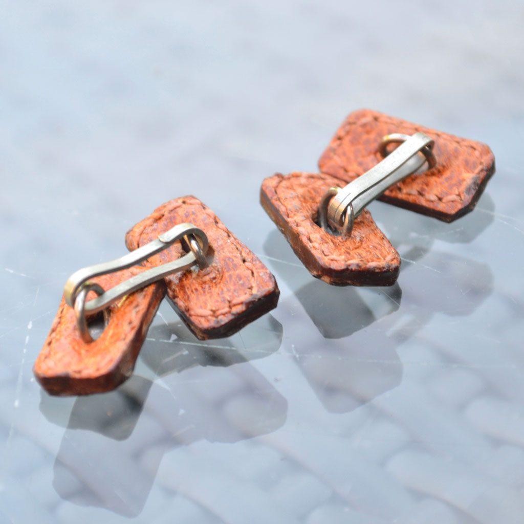 Wickstead's-Mr-Wickstead-Vintage-Cufflinks–Chain-Links-Real-Leather–(4)