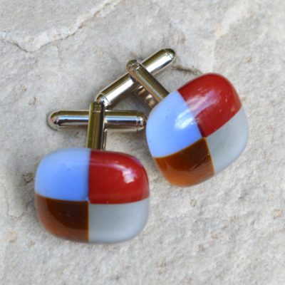 Wickstead's-AW-Designs-UK-Rainbow-Fused-Glass-Cufflinks–Checkered-(2)