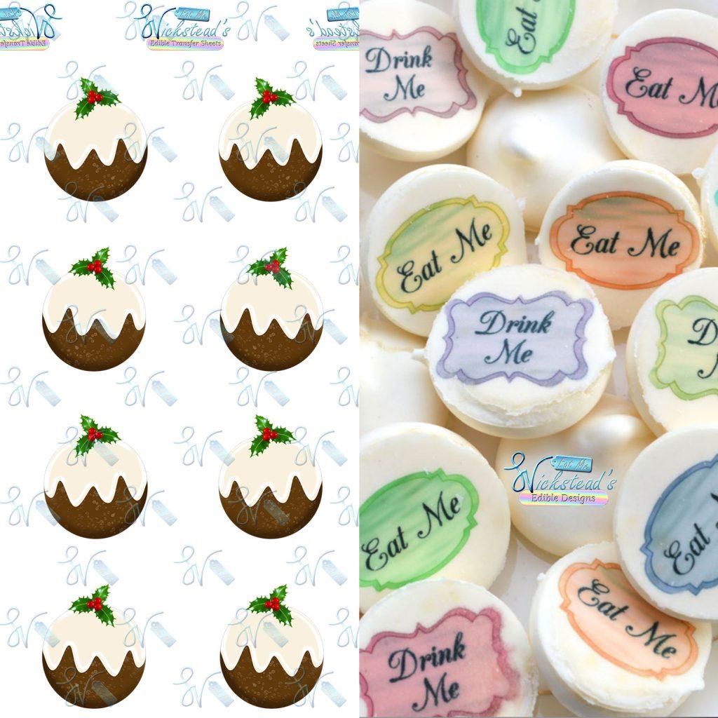 Wickstead's-Eat-Me-Edible-Chocolate-&-Meringue-Transfer-Sheets–Christmas-Puddings-1