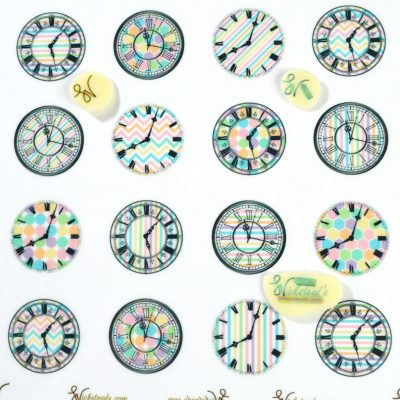 Wickstead's-Eat-Me-Edible-Meringue-&-Chocolate-Transfer-Sheets-Pastel-Patterned-Clock-Faces-(1)