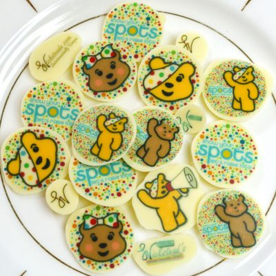 Wickstead's-Eat-Me-Edible-Meringue-&-Chocolate-Transfer-Sheets–Pudsey-&-Blush-Children-in-Need-Charity-Characters-Spots-(5)