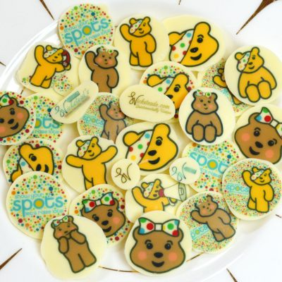 Wickstead's-Eat-Me-Edible-Meringue-&-Chocolate-Transfer-Sheets–Pudsey-&-Blush-Children-in-Need-Charity-Characters-Spots-(6)