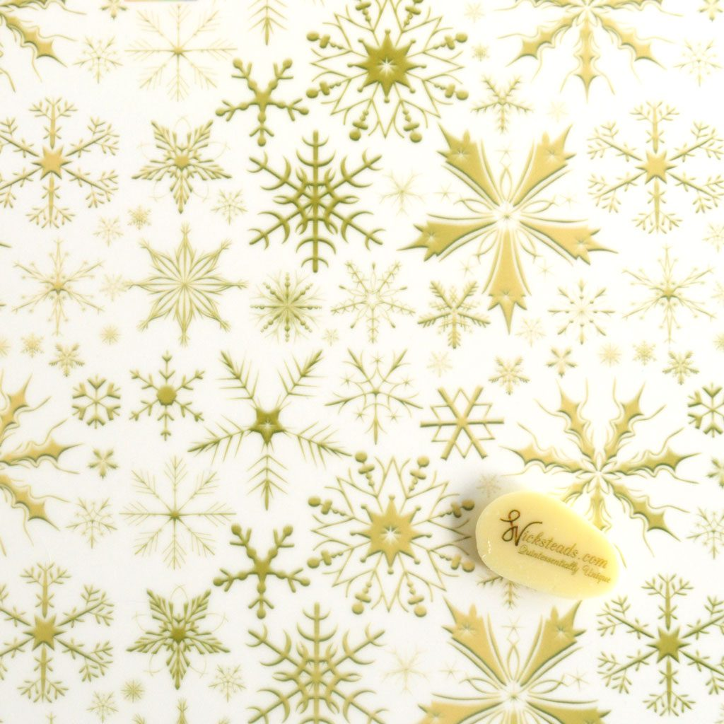 Wicksteads Edible Golden Ice Snowflakes Christmas