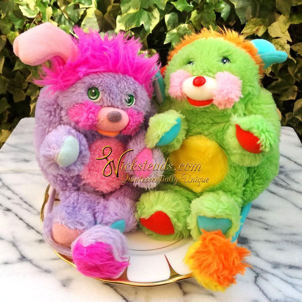 Wickstead's—Home-&-Living—Vintage1980's-Popples-Purple-Pretty-Bit-Popple-&-Green-Putter-Popple-(1)