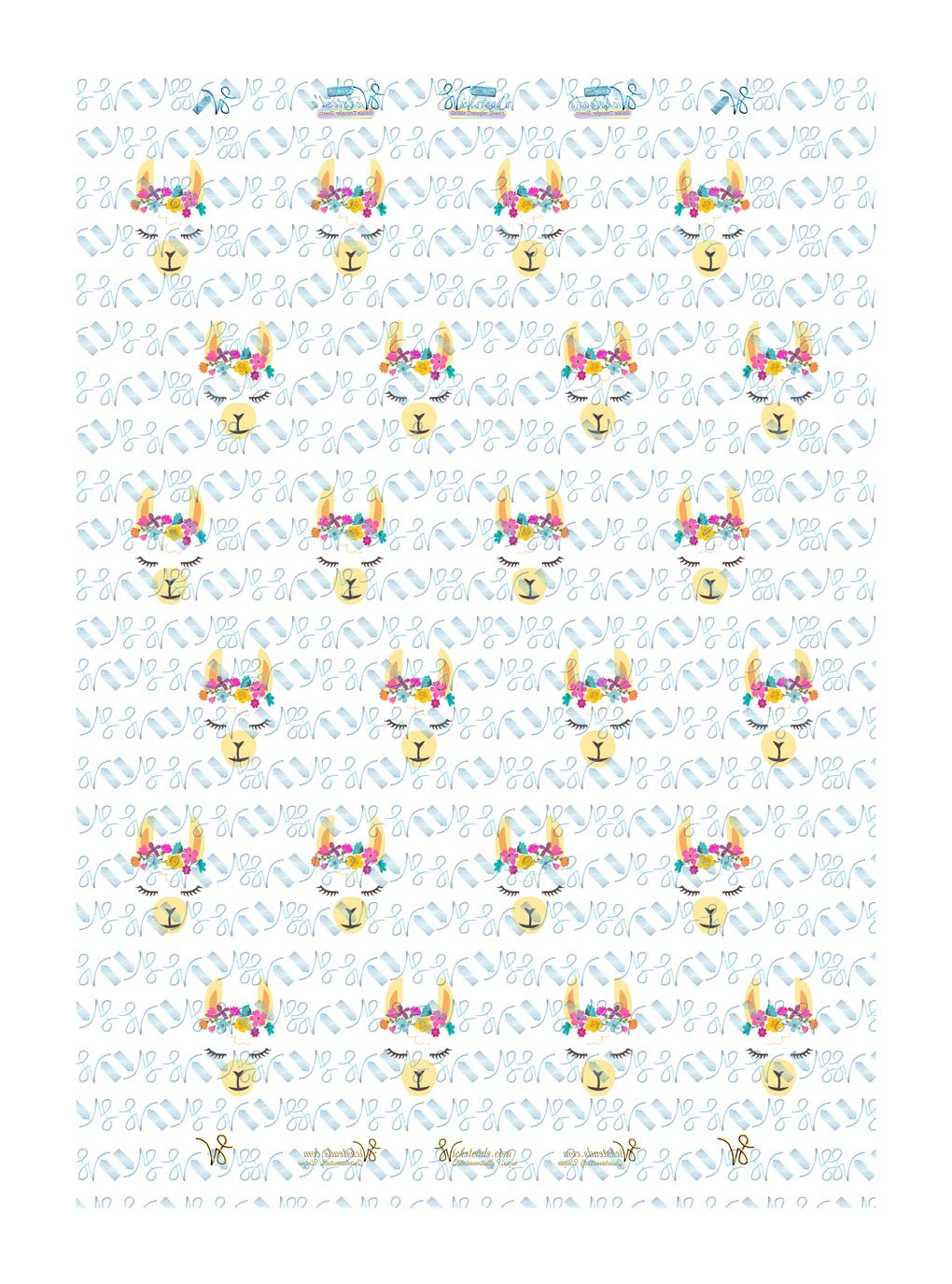 Wickstead's-Eat-Me-Edible-Meringue-Transfer-Sheets–Llama-with-Flower-Crown-(24-x-Small)