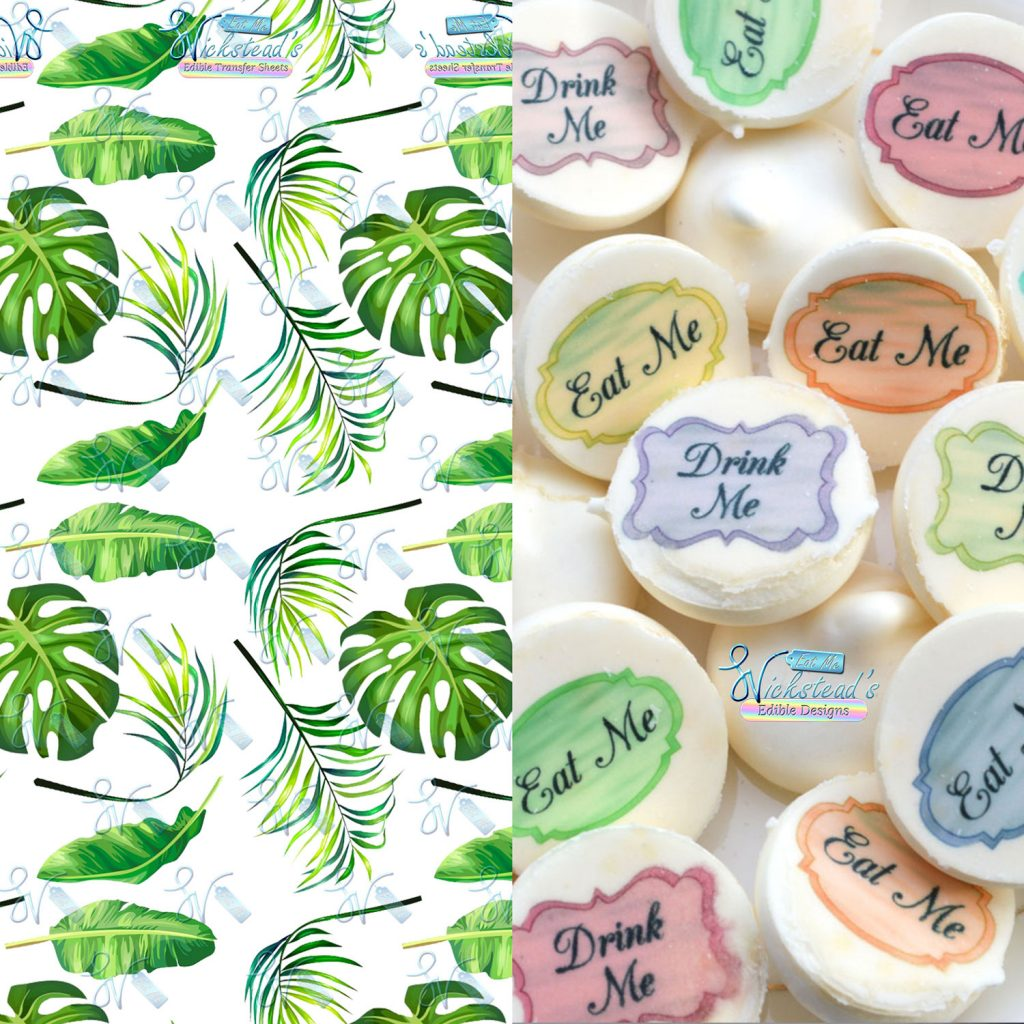 Wickstead's-Eat-Me-Edible-Meringue-Transfer-Sheets–Tropical-Paradise-Leaves-(1)