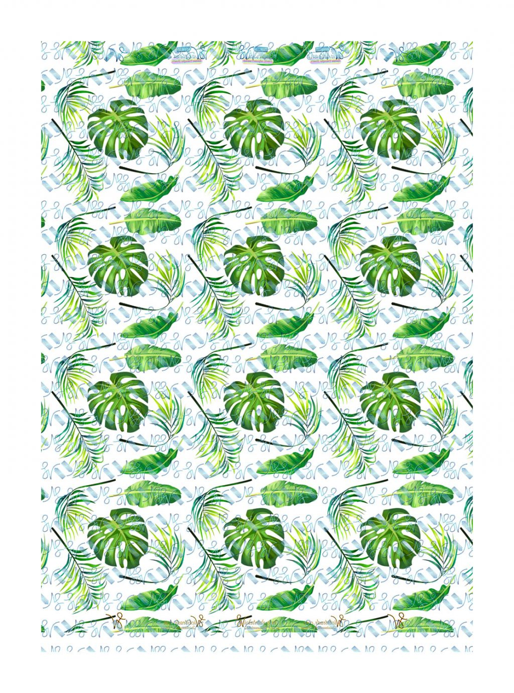 Wickstead's-Eat-Me-Edible-Meringue-Transfer-Sheets–Tropical-Paradise-Leaves-(large)