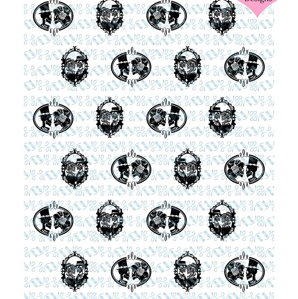 Wickstead's-Eat-Me-Edible-Designs–Meringue-Transfer-Sheets-Chocolate-Transfer–Wedding-Bride-Groom-Til-Death-Do-Us-Part—Gothic-Skeleton-Silhouette-Frames-(3)